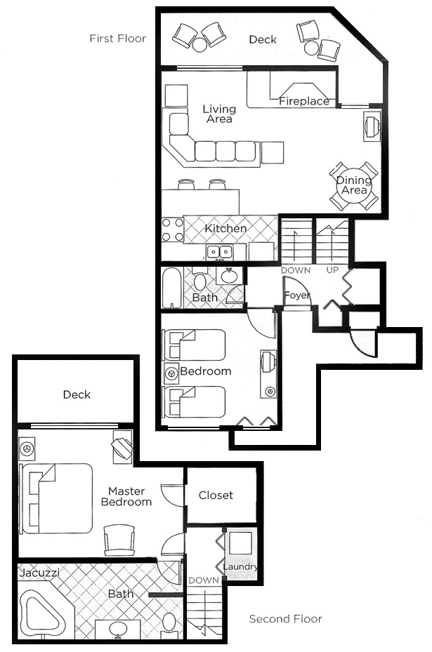 Two Bedroom Deluxe Floorplan - Book Now